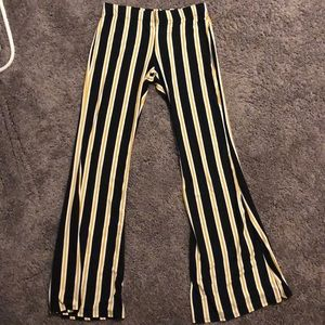 VIBE Striped Flare Pants